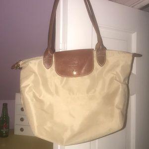 LONGCHAMP Medium Khaki Tote Bag